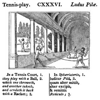 Tennis, Johann Amos Comenius, 1658