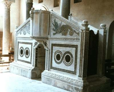 12th-century ambo, Ravello Cathedral, Italy